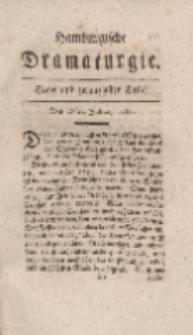 Hamburgische Dramaturgie, Erster Band, Sechs und zwanzigstes Stück, den 28sten Julius, 1767