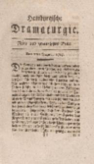 Hamburgische Dramaturgie, Erster Band, Neun und zwanzigstes Stück, den 7ten August, 1767