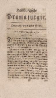 Hamburgische Dramaturgie, Erster Band, Drey und dreytzigstes Stück, den 21sten August, 1767