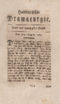 Hamburgische Dramaturgie, Erster Band, Fünf und dreytzigstes Stück, den 28sten August, 1767