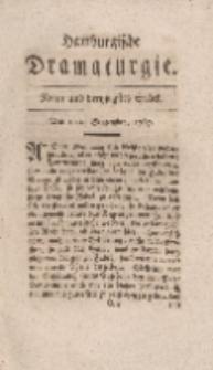 Hamburgische Dramaturgie, Erster Band, Neun und dreytzigstes Stück, den 11ten September, 1767