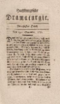 Hamburgische Dramaturgie, Erster Band, Vierzigstes Stück, den 15ten September, 1767