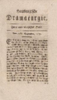 Hamburgische Dramaturgie, Erster Band, Zwey und vierzigstes Stück, den 22sten September, 1767