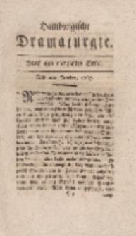 Hamburgische Dramaturgie, Erster Band, Fünf und vierzigstes Stück, den 2ten October, 1767