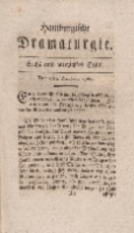 Hamburgische Dramaturgie, Erster Band, Sechs und vierzigstes Stück, den 6ten October, 1767