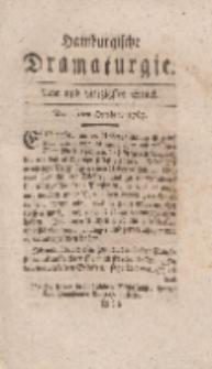 Hamburgische Dramaturgie, Erster Band, Acht und vierzigstes Stück, den 13ten October, 1767