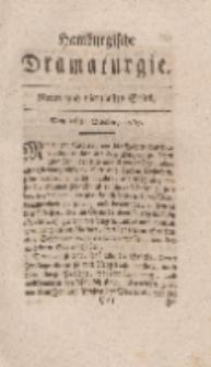 Hamburgische Dramaturgie, Erster Band, Neun und vierzigstes Stück, den 16ten October, 1767