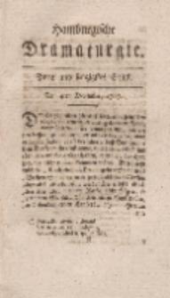 Hamburgische Dramaturgie, Zweyter Band, Zwey und sechzigstes Stück, den 4ten December, 1767