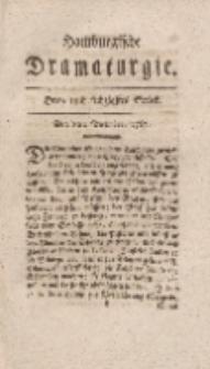 Hamburgische Dramaturgie, Zweyter Band, Drey und sechzigstes Stück, den 8ten December, 1767