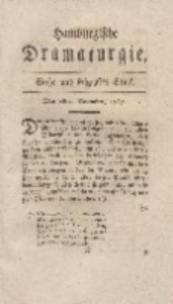Hamburgische Dramaturgie, Zweyter Band, Sechs und sechzigstes Stück, den 18ten December, 1767