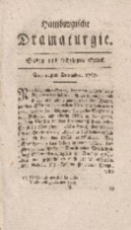 Hamburgische Dramaturgie, Zweyter Band, Sieben und sechzigstes Stück, den 22sten December, 1767