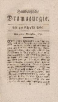 Hamburgische Dramaturgie, Zweyter Band, Acht und sechzigstes Stück, den 25sten December, 1767
