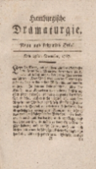 Hamburgische Dramaturgie, Zweyter Band, Neun und sechzigstes Stück, den 29sten December, 1767