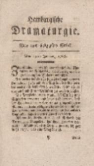 Hamburgische Dramaturgie, Zweyter Band, Vier und siebzigstes Stück, den 15ten Januar, 1768