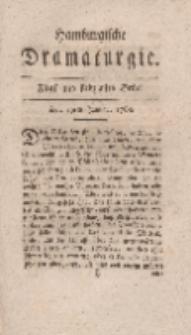 Hamburgische Dramaturgie, Zweyter Band, Fünf und siebzigstes Stück, den 19ten Januar, 1768