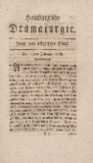 Hamburgische Dramaturgie, Zweyter Band, Zwey und achtzigstes Stück, den 12ten Februar, 1768