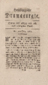 Hamburgische Dramaturgie, Zweyter Band, Sieben und achtzig und acht und achtzigstes Stück, den 4ten Merz, 1768