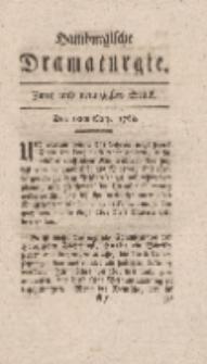 Hamburgische Dramaturgie, Zweyter Band, Zwey und neunzigstes Stück, den 18ten Merz, 1768