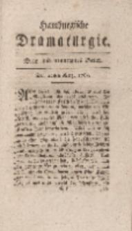 Hamburgische Dramaturgie, Zweyter Band, Drey und neunzigstes Stück, den 22sten Merz, 1768