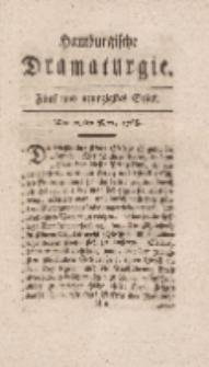 Hamburgische Dramaturgie, Zweyter Band, Fünf und neunzigstes Stück, den 29sten Merz, 1768