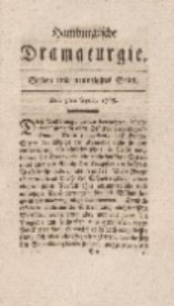 Hamburgische Dramaturgie, Zweyter Band, Sieben und neunzigstes Stück, den 5ten April, 1768