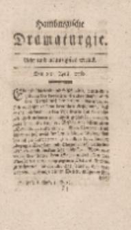 Hamburgische Dramaturgie, Zweyter Band, Acht und neunzigstes Stück, den 8ten April, 1768