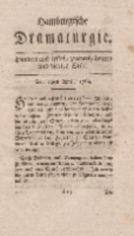 Hamburgische Dramaturgie, Zweyter Band, Hundert und erstes, zweytes, drittes und viertes Stück, den 19ten April, 1768