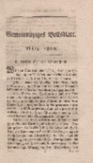 Gemeinnütziges Volksblatt, März 1800