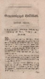 Gemeinnütziges Volksblatt, Julius 1800