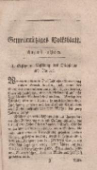 Gemeinnütziges Volksblatt, August 1800