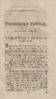 Gemeinnütziges Volksblatt, October 1800