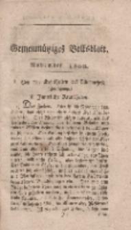 Gemeinnütziges Volksblatt, November 1800