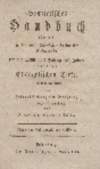 Homiletisches Handbuch über einige der gewöhnlichen Evangelien und über freye Texte [... ], Des 2ten Theils 1ter Band