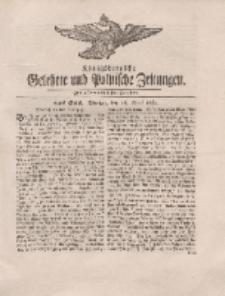 Königsbergsche Gelehrte und Politische Zeitungen. Mit allergnädigster Freyheit, 22tes Stück, Montag, den 16. April 1764