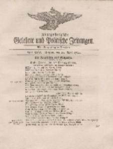 Königsbergsche Gelehrte und Politische Zeitungen. Mit allergnädigster Freyheit, 23tes Stück, Freytag, den 20. April 1764