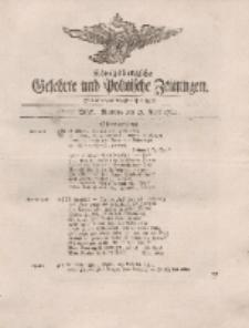 Königsbergsche Gelehrte und Politische Zeitungen. Mit allergnädigster Freyheit, 24tes Stück, Montag, den 23. April 1764
