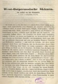 West-Ostpreussische Skizzen. Ein Artikel aus den Grenzboten in seiner ursprünglichen Fassung