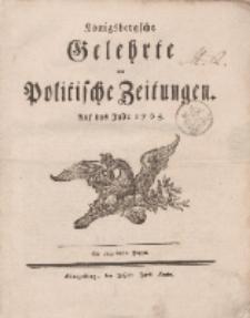 Königsbergsche Gelehrte und Politische Zeitungen. Mit allergnädigster Freyheit,1t.s Stück, Freytag, den 4. Januar 1765