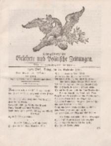 Königsbergsche Gelehrte und Politische Zeitungen. Mit allergnädigster Freyheit, 75tes Stück, Freitag, den 20. September 1765