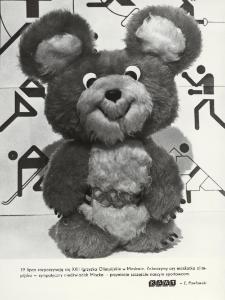 Niedźwiadek Miszka maskotka XXII Igrzysk Olimpijskich w Moskwie