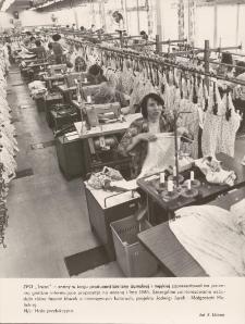 """Kolekcja wiosna - lato 1981 w trakcie produkcji, w Zakładach Przemysłu Odzieżowego """"Truso"""""""