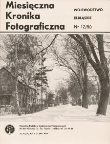 Krajobraz zimowy ulicy Żeromskiego w Elblągu
