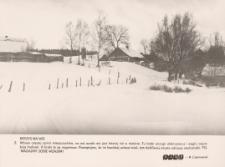 Elbląska wieś w zimowej szacie szalejącego kryzysu
