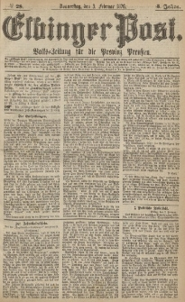 Elbinger Post, Nr.28 Donnerstag 3 Februar 1876, 3 Jh
