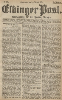 Elbinger Post, Nr.30 Sonnabend 5 Februar 1876, 3 Jh