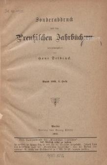 Aus der Zeit von Theodor von Schöns westpreuβischem Oberpräsidium