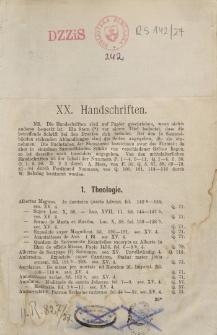 Handschriften. Katalog rękopisów Biblioteki Miejskiej w Elblągu