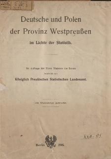 Deutsche und Polen der Provinz Westpreuβen im Lichte der Statistik
