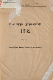 Statistischer Jahresbericht 1932
