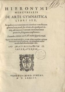De arte gymnastica libri sex, […]